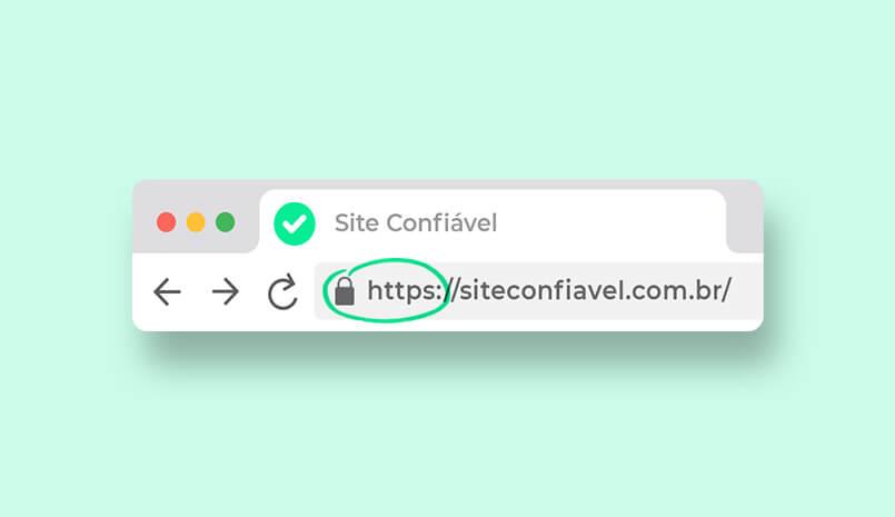 URL de site seguro e confiável