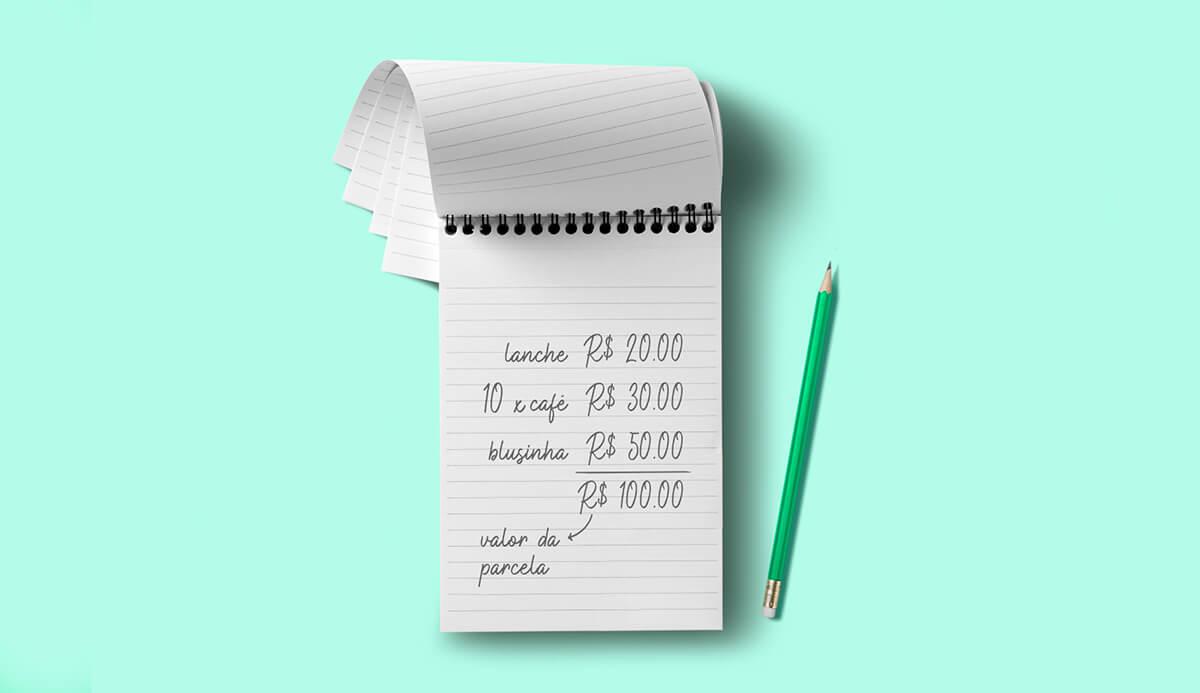 Controle seus gastos para pagar em dia
